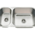 PB8123L Offset Double Bowl Undermount Stainless Steel Sink