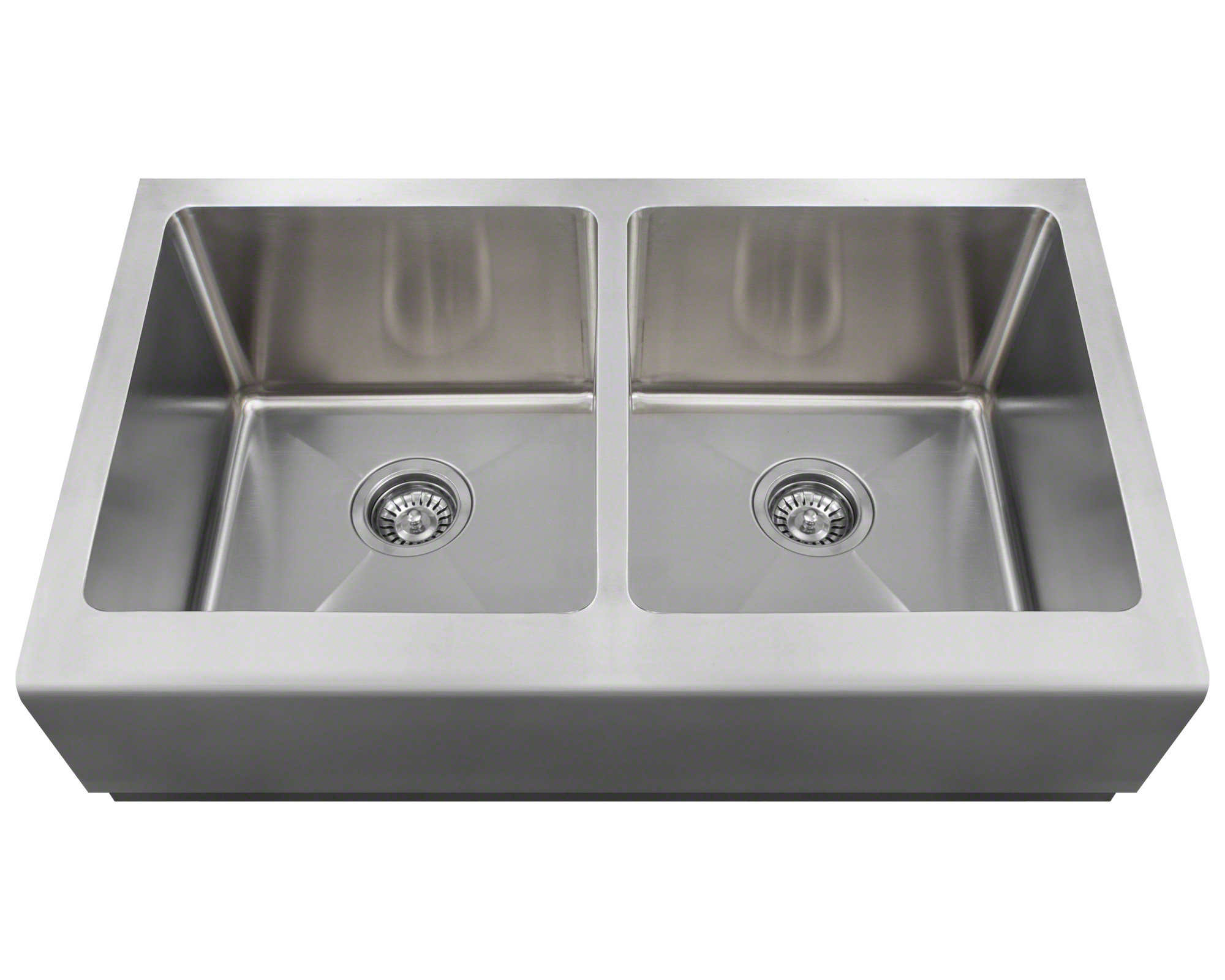 P604 Double Equal Bowl Apron Sink