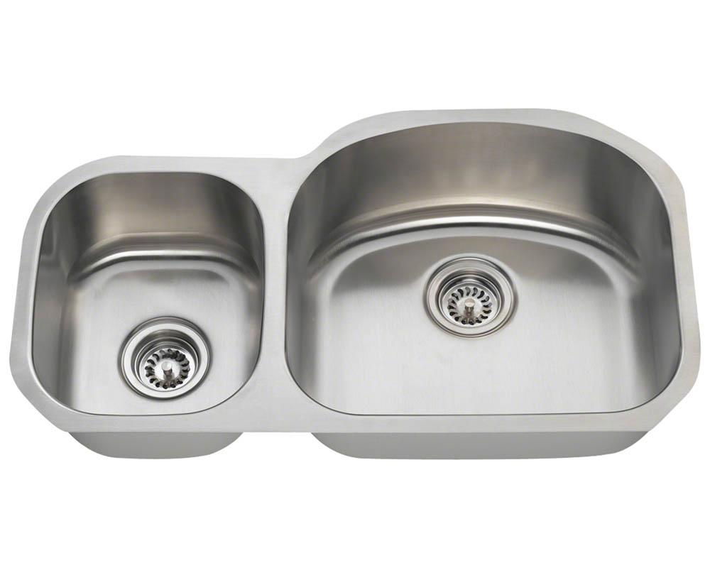 PR105-16 Offset Stainless Steel Kitchen Sink