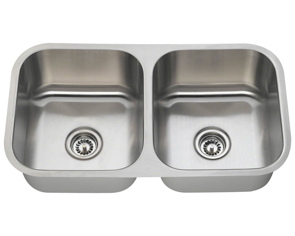 PA205-16 Double Bowl Stainless Steel Kitchen Sink