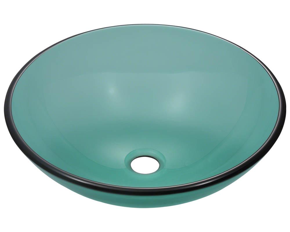 P106E Colored Glass Vessel Sink