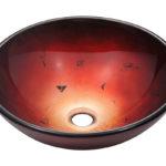 P706 Foil Undertone Glass Vessel Sink