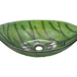 P906 Colored Glass Vessel Sink