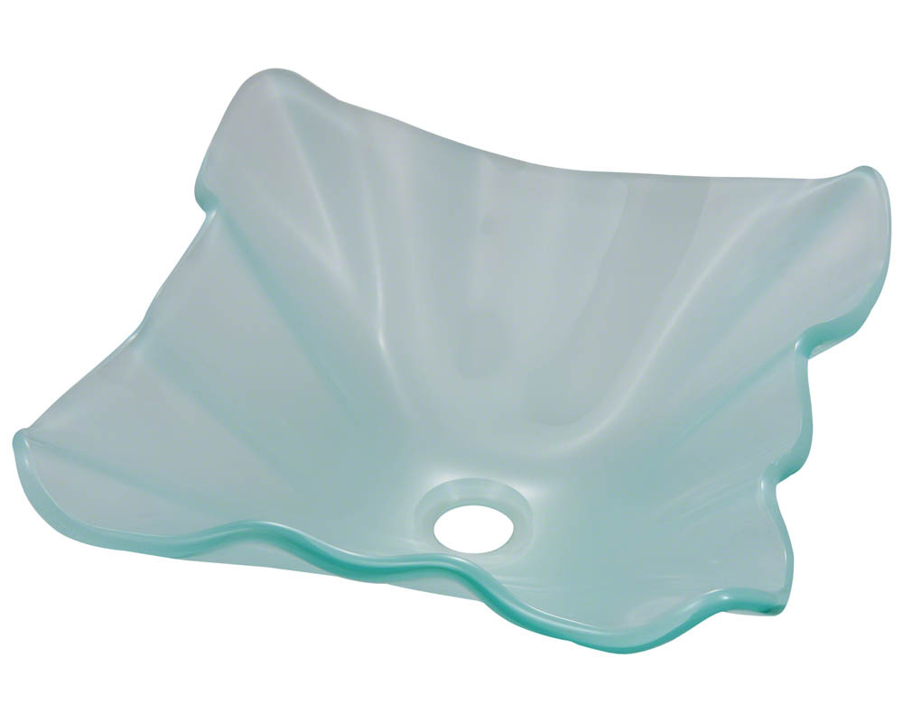 P116 Frosted Glass Vessel Sink