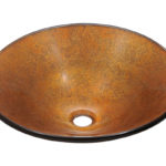 P316 Foil Undertone Glass Vessel Sink
