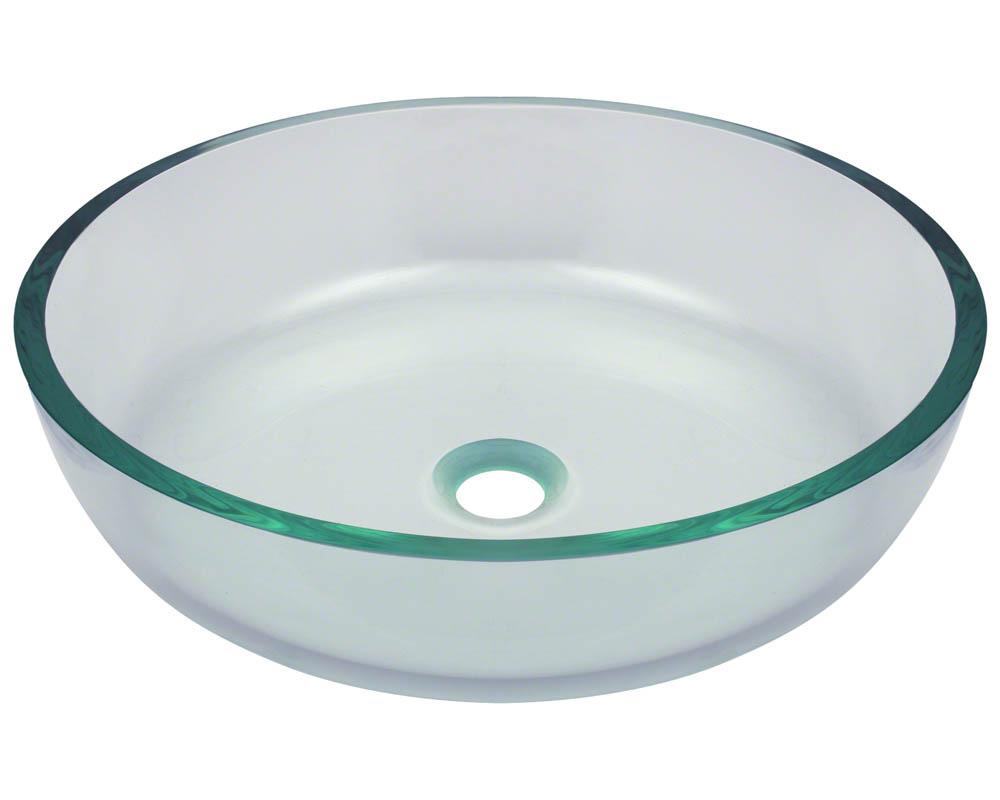 P526 Clear Glass Vessel Bathroom Sink