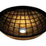 P536 Foil Undertone Glass Vessel Sink