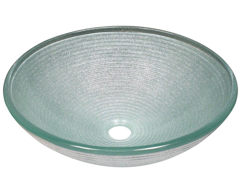 P636 Foil Undertone Glass Vessel Sink