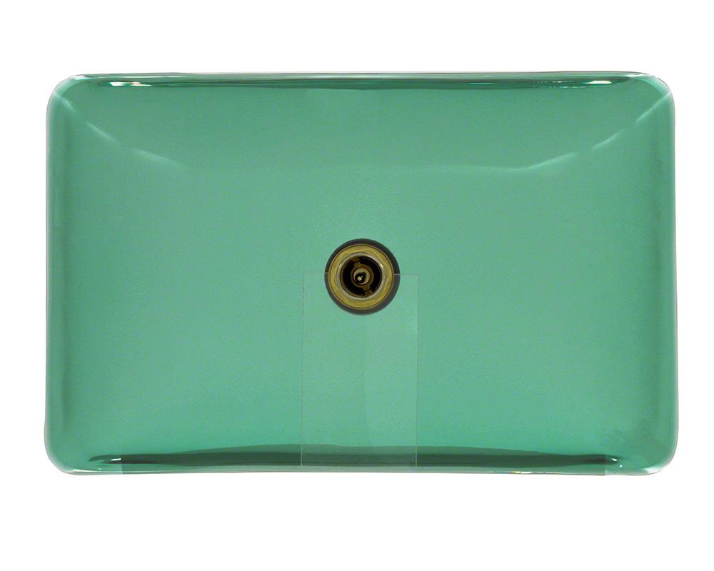 P046E Colored Glass Vessel Bathroom Sink