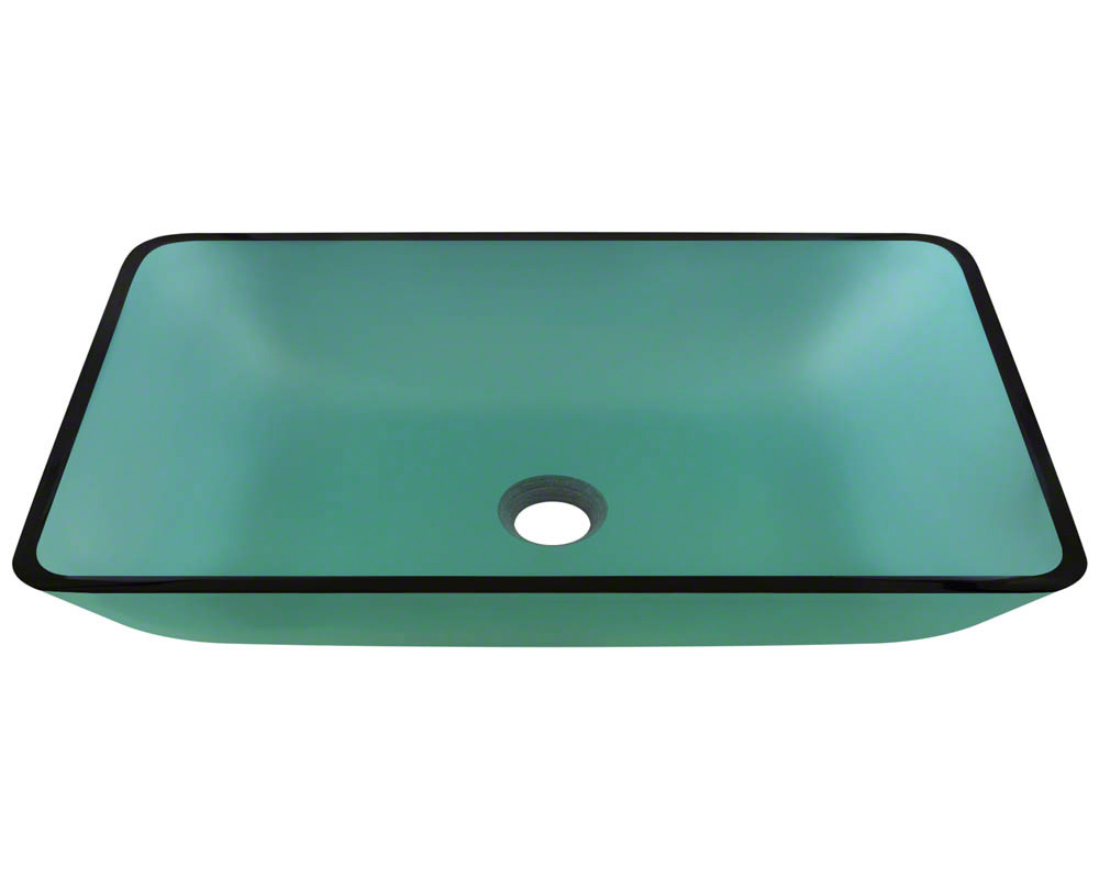 P046E Colored Glass Vessel Bathroom Sink