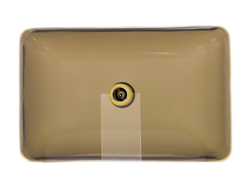 P046T Colored Glass Vessel Bathroom Sink