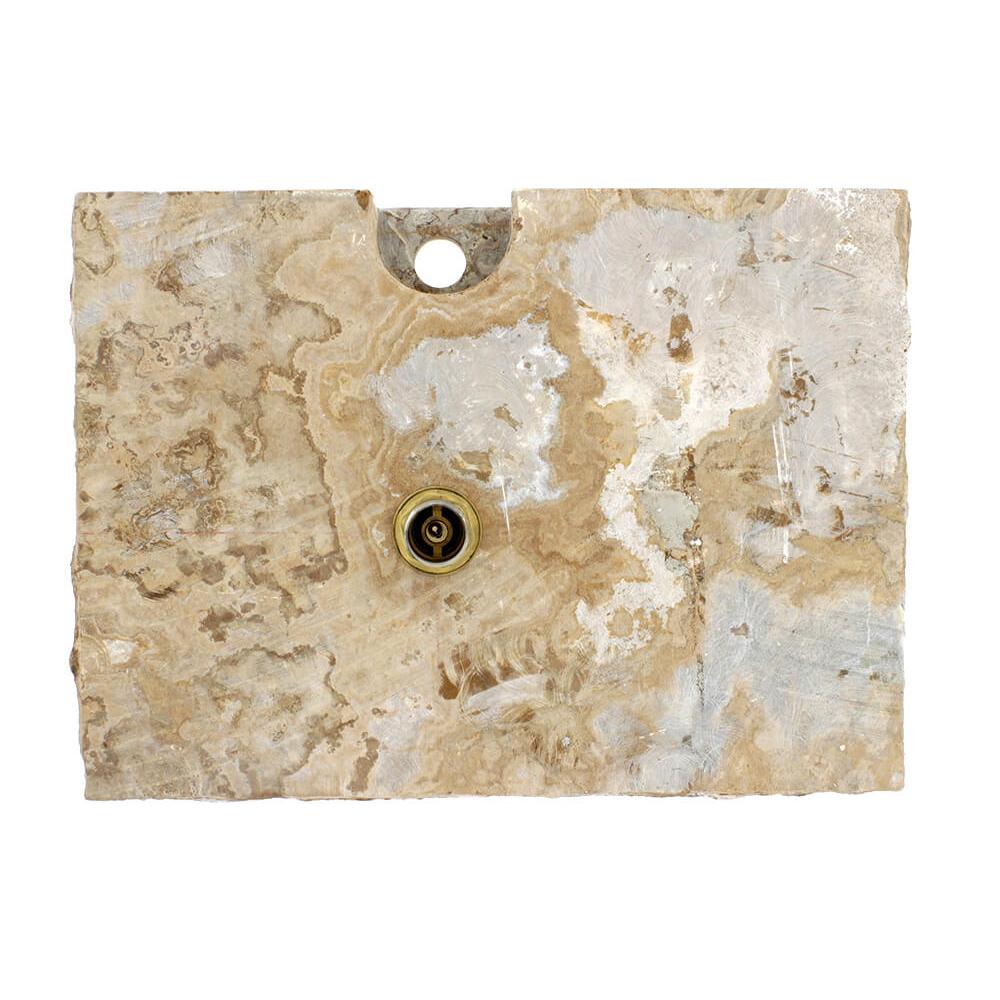 P468 Golden Silk Onyx Vessel Sink
