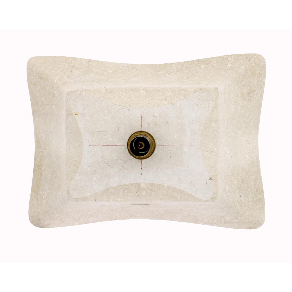 P768 Galaga Beige Marble Vessel Sink