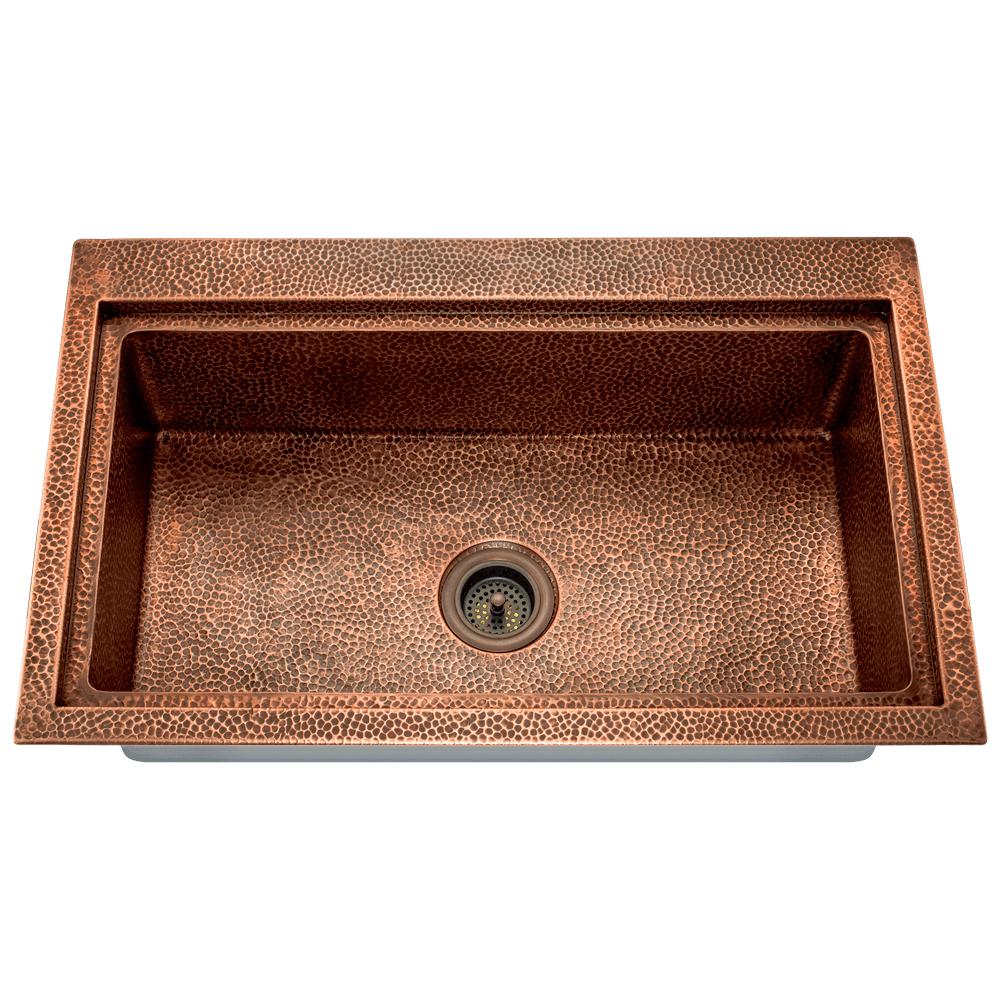 P519 Single Bowl Dual-Mount Copper Sink