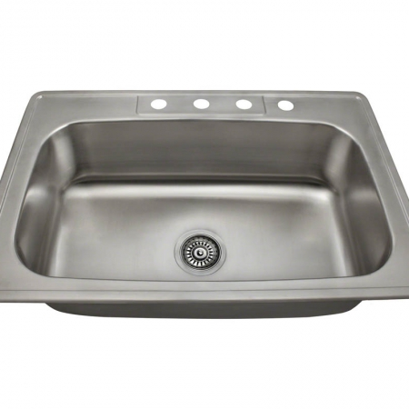 PT0301US Single Bowl Topmount Stainless Steel Sink
