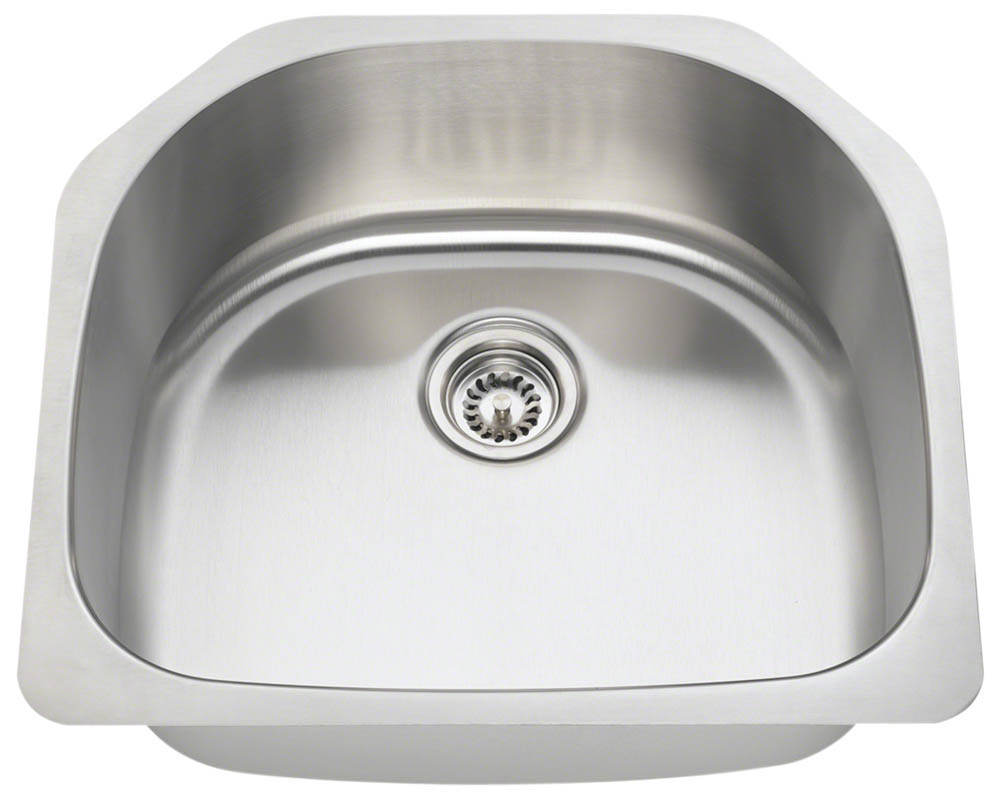 P1242-16 D-Bowl Stainless Steel Kitchen Sink - BuiltInz