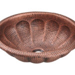 P129 Single Bowl Oval Copper Sink
