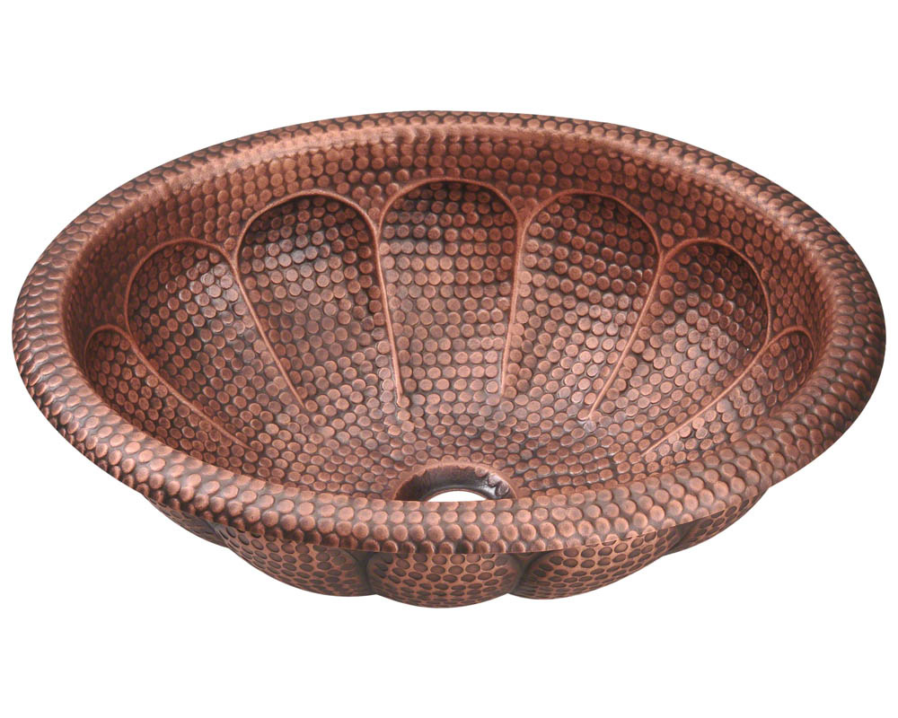 P129 Single Bowl Oval Copper Sink