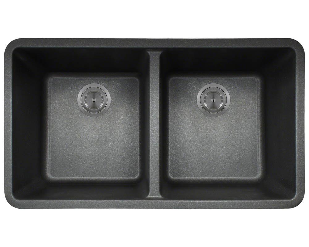 P208BL Double Equal Bowl AstraGranite Kitchen Sink