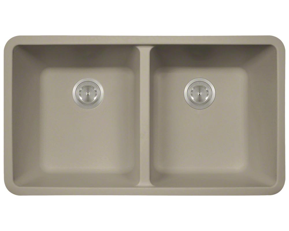 P208ST Double Equal Bowl AstraGranite Kitchen Sink