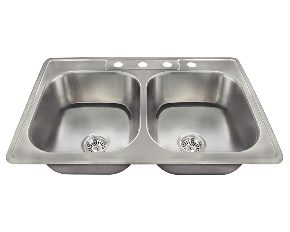 PT2201US Topmount Double Equal Bowl Stainless Steel