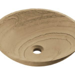 P258 Wood Sandstone Vessel Sink