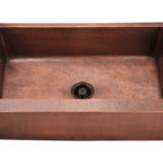 P319 Single Bowl Copper Apron Sink
