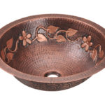 P329 Single Bowl Copper Bathroom Sink