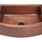 P419 Single Bowl Copper Apron Sink
