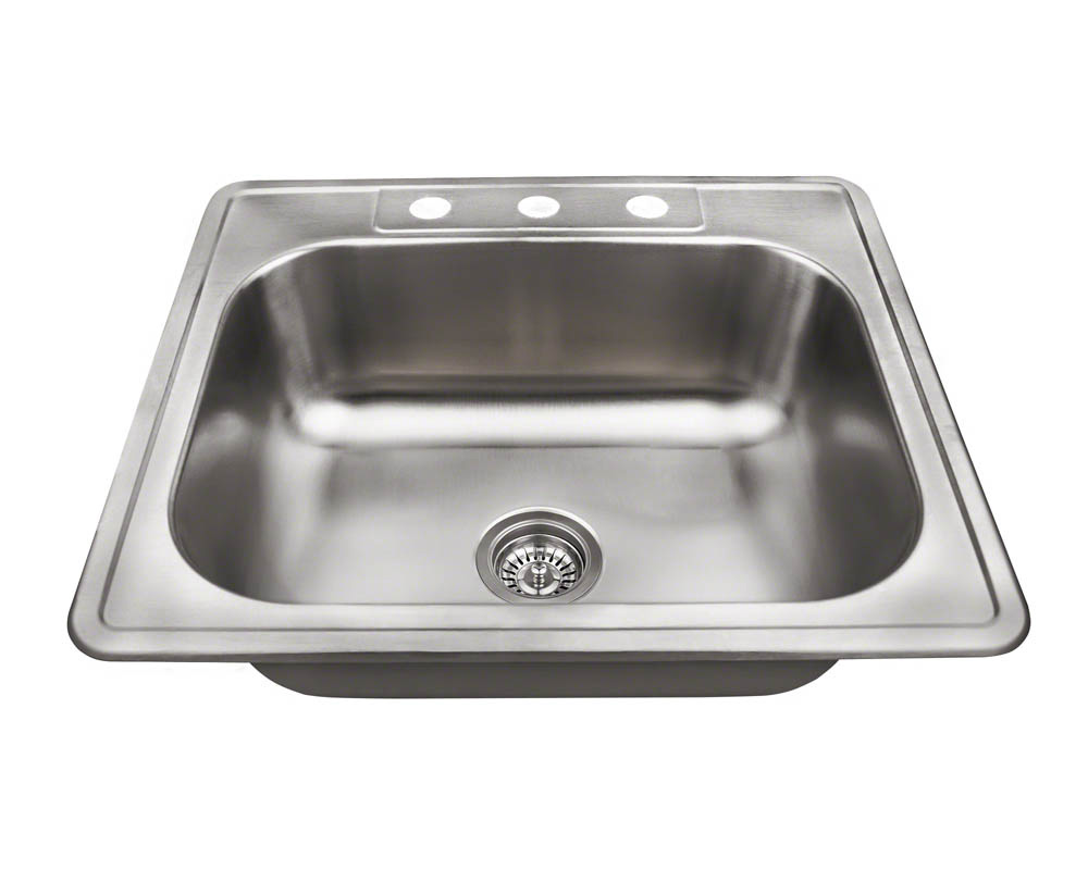 PT8301US Single Bowl Topmount Stainless Steel Sink