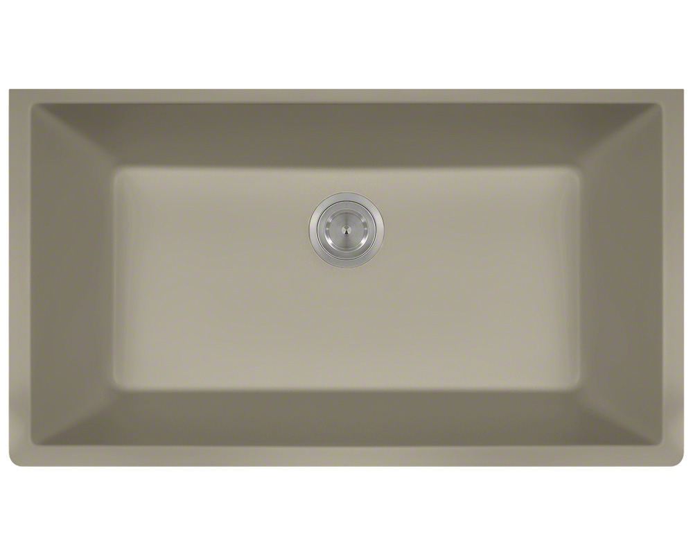 P848ST Large Single Bowl Undermount AstraGranite Kitchen Sink