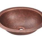 P909 Single Bowl Oval Copper Sink