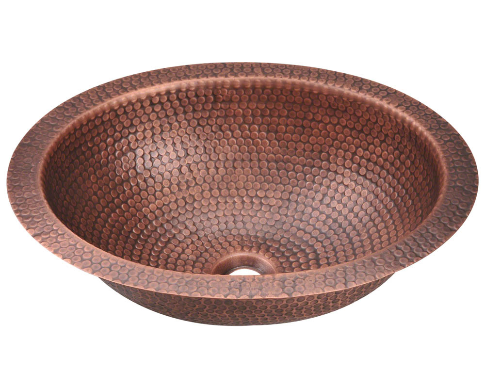 P909 Single Bowl Oval Copper Sink