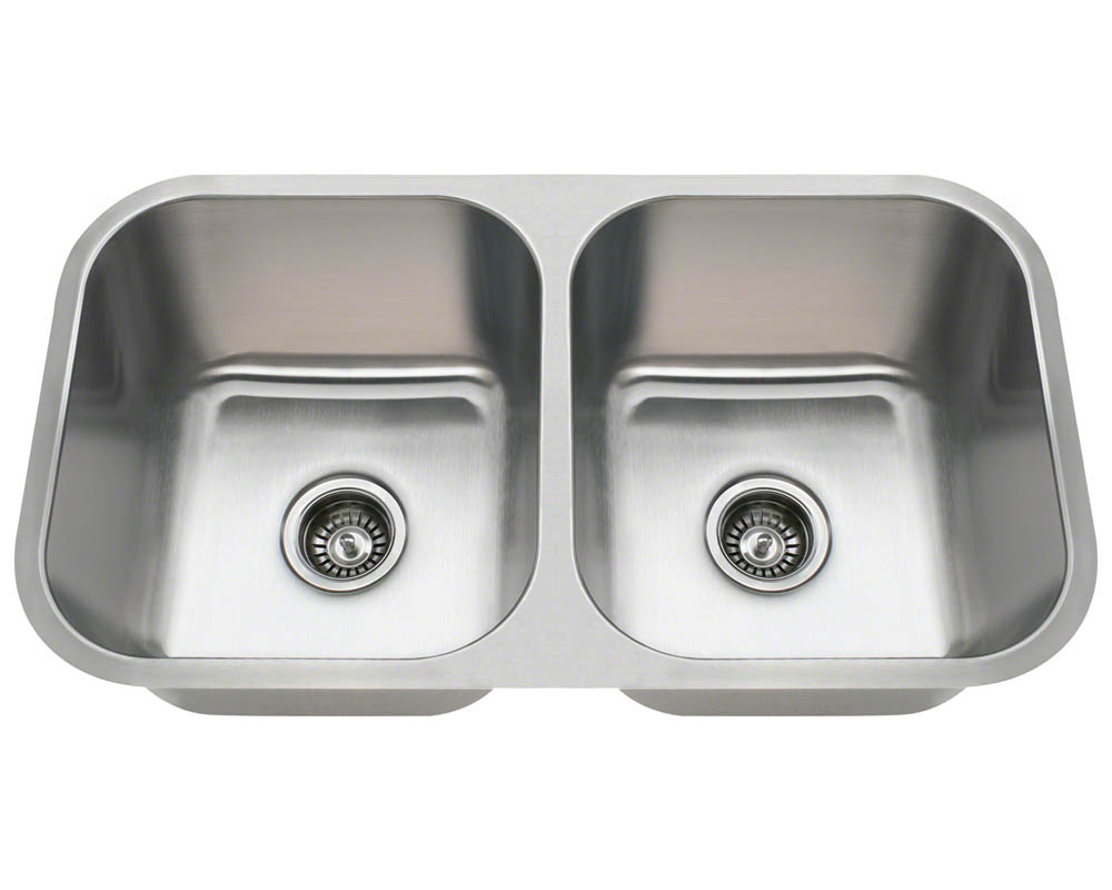 PA8123 Double Bowl Undermount Stainless Steel Sink