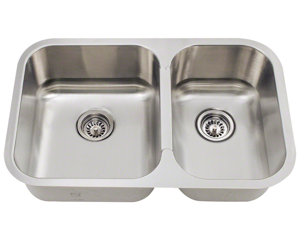 PL035 Small Offset Stainless Steel Sink