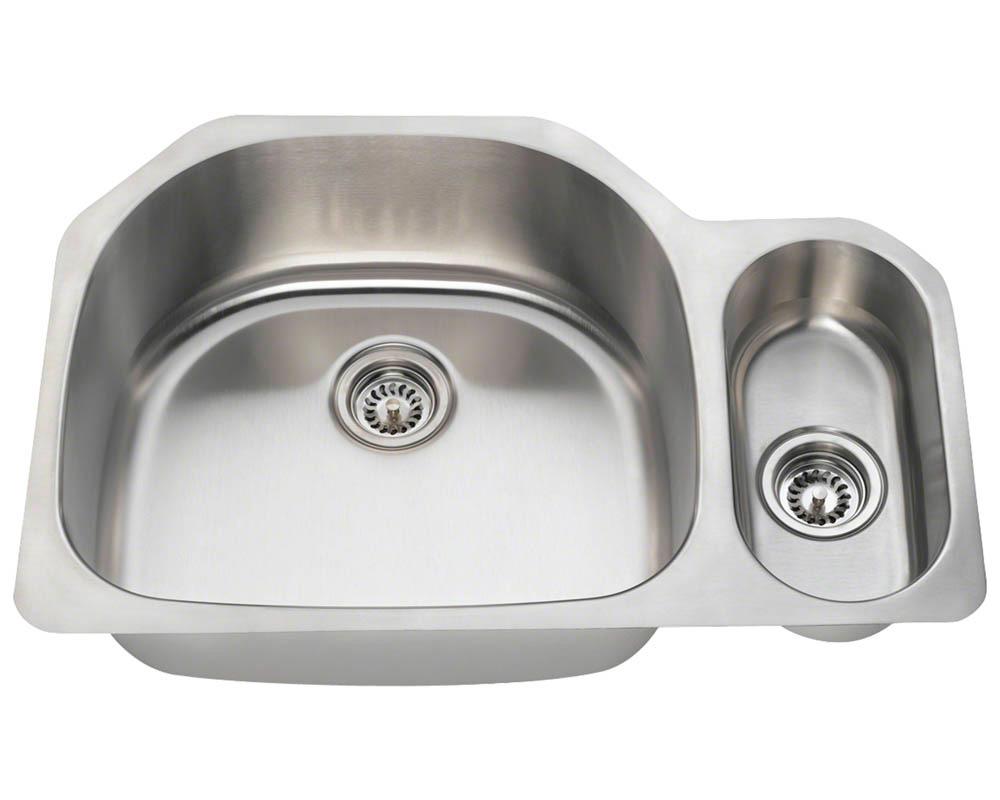 PL123 Offset Stainless Steel Kitchen Sink
