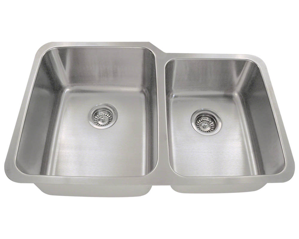 PL315 Offset Double Bowl Stainless Steel Sink