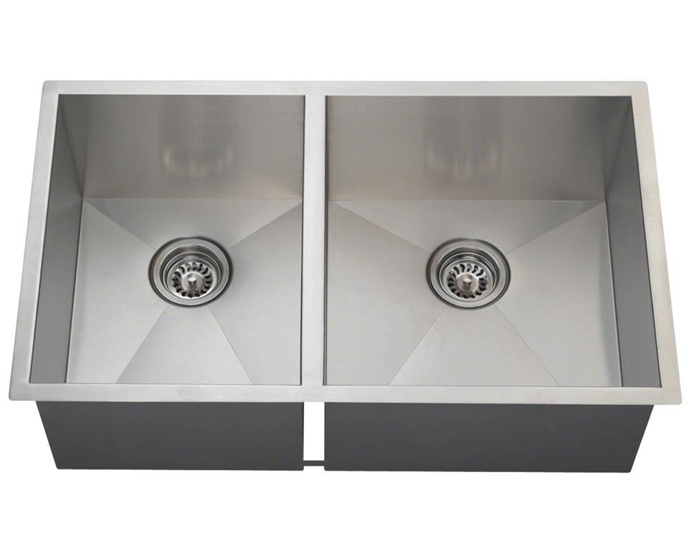 POR2233 Double Rectangular Stainless Steel Kitchen Sink