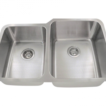 PR315 Offset Double Bowl Stainless Steel Kitchen Sink