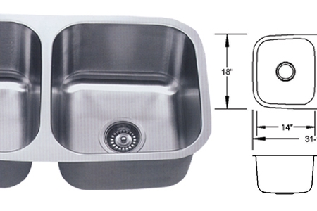 LB-100 ESI Double Bowl Stainless Sink
