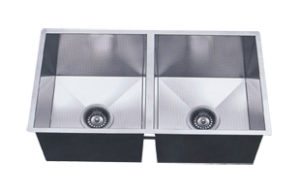 LB-1100 ESI Double Bowl Square Undermount Stainless Sink
