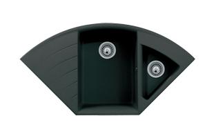 Q4222D ESI Quartz Corner Composite Kitchen Sink In Hybrid Mount ...