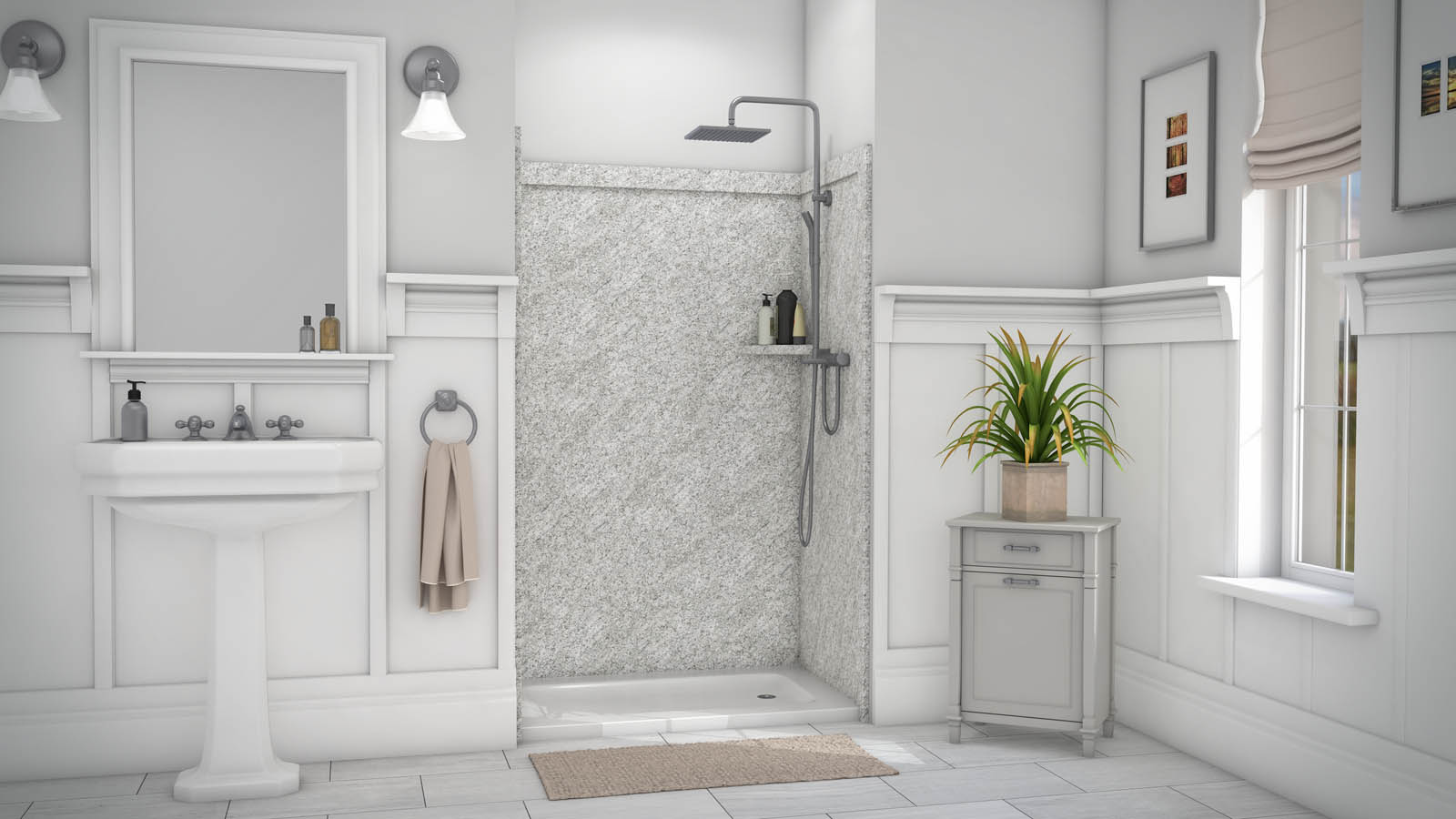 Flexstone Ssk48367831 Elegance 3 Wall Shower Kit Builtinz
