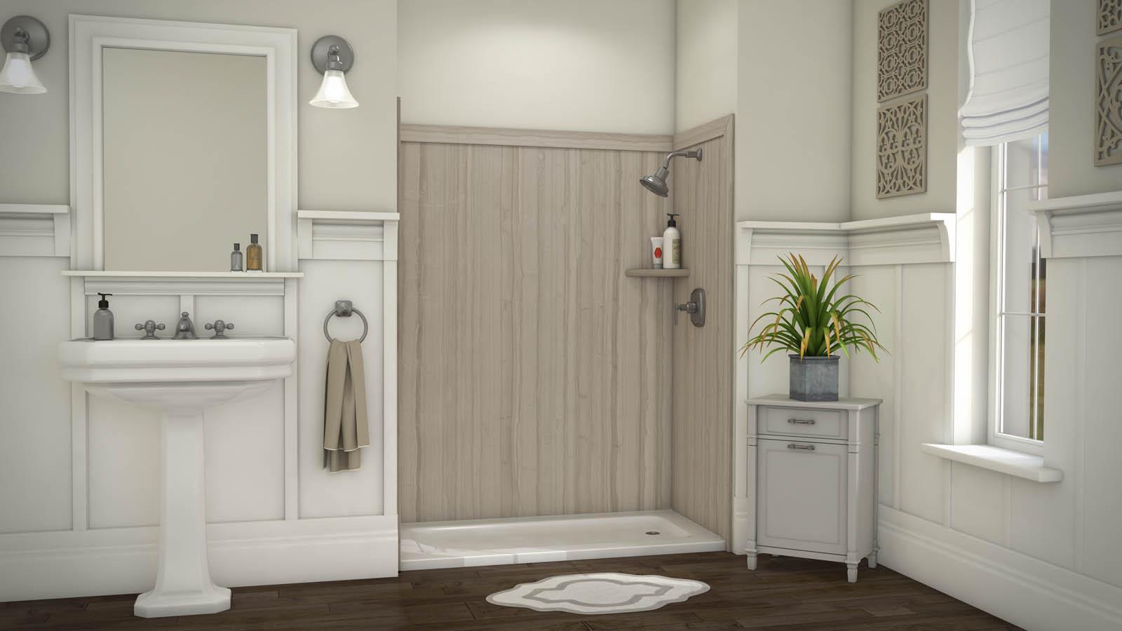Ssk60367831 Flexstone Royale Tub Or Shower 3 Wall Kit