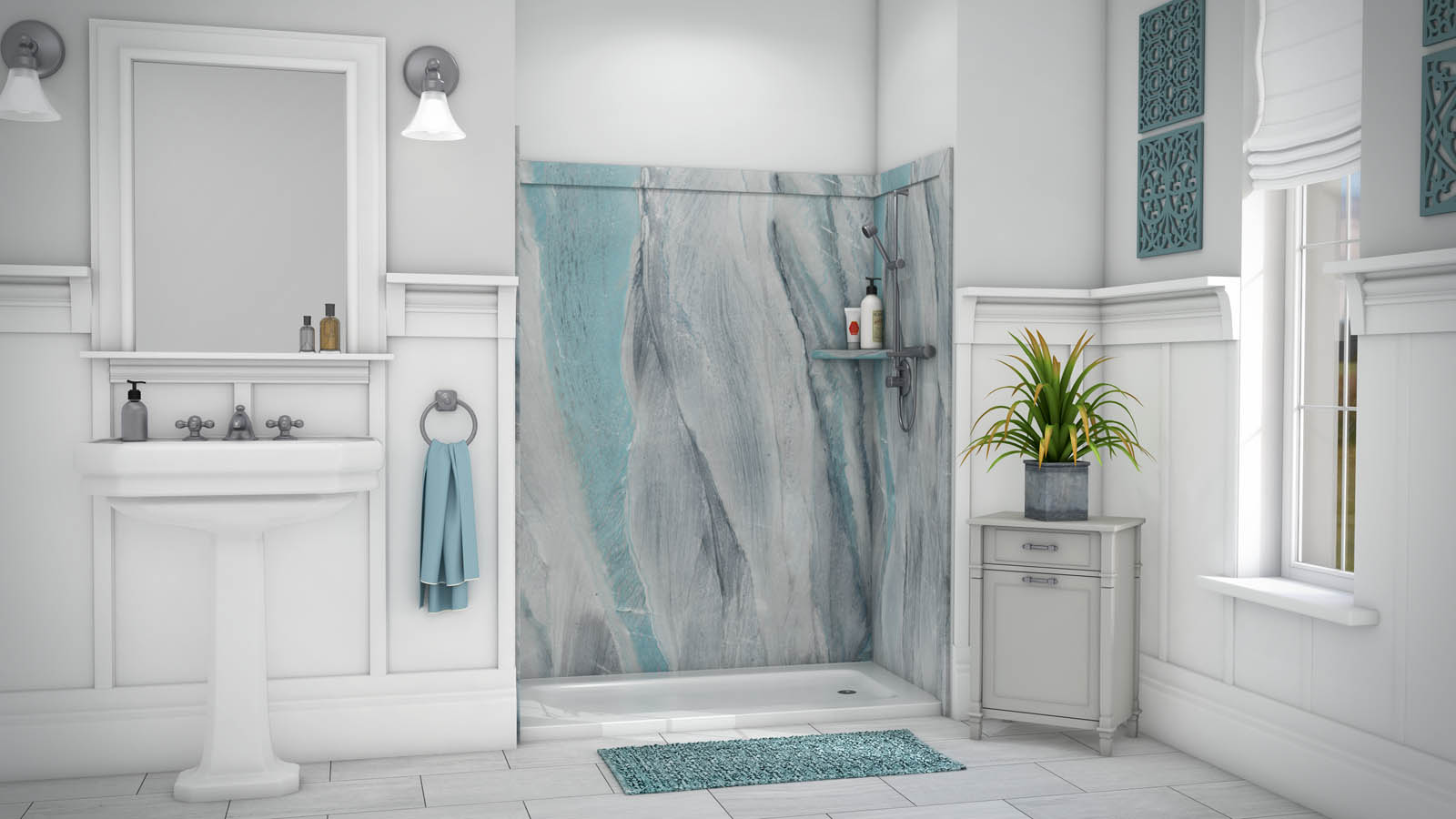 SSK60367831 FlexStone Royale Tub or Shower 3 Wall Kit