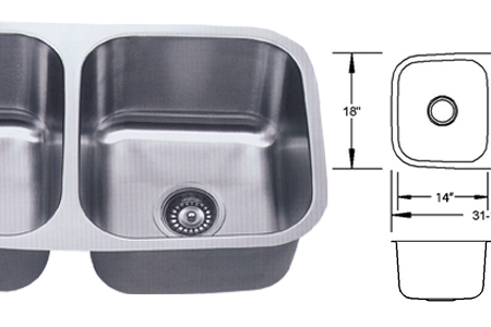 ESI LB-100 Dual Stainless SInk