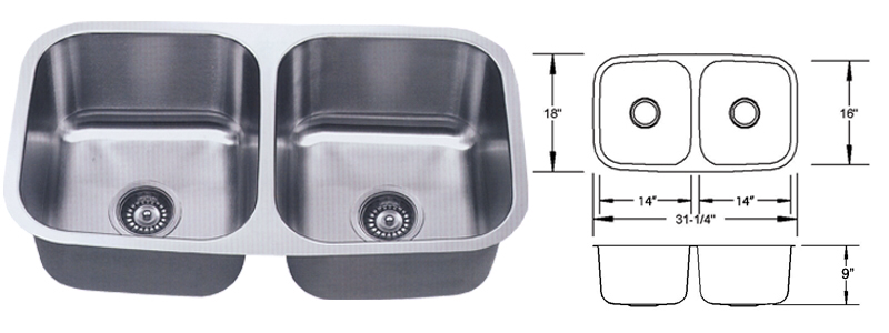 ESI LB-100 Dual Stainless SInk