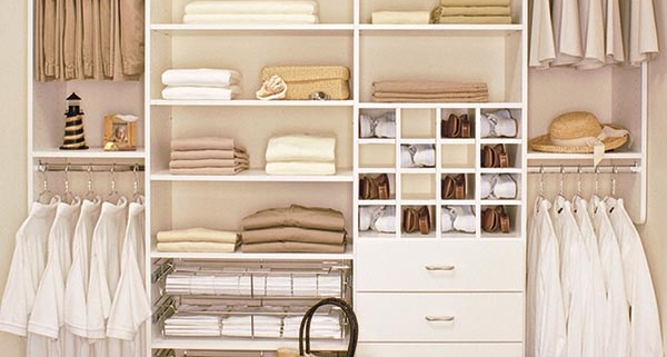 Closets- cabinets, shelving, rods, shoe shelves and more