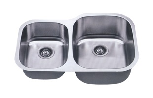 LB-200R ESI Reverse of LB-200 Stainless Double Undermount Sink
