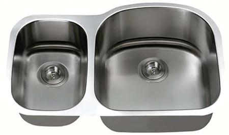 LB-300R ESI Reverse model of the LB-300 Stainless Double Undermount Sink
